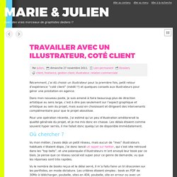 Travailler avec un illustrateur, coté client - MARIE & JULIEN