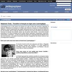 Collège : Travailler le français en ligne avec LearningApps