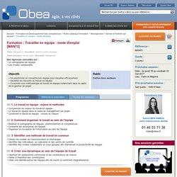Formation travailler en équipe : mode d'emploi : Obea, conseil en management