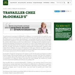 TRAVAILLER CHEZ McDONALD'S[s]®[/s]
