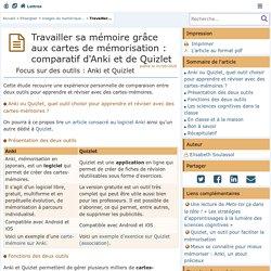 Travailler sa mémoire grâce aux cartes de mémorisation : comparatif d'Anki et de Quizlet - Lettres