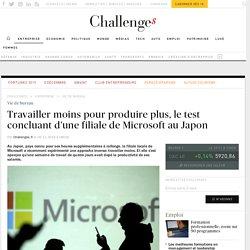 Travailler moins pour produire: le test de Microsoft Japon
