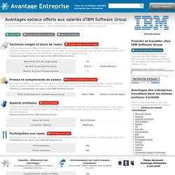 Travailler chez IBM Software Group