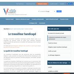Travailleur handicapé - Reconnaissance et statut