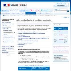 Aides pour l'embauche de travailleurs handicapés - pme.service-public.fr