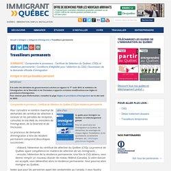 Travailleurs permanents - Le site de référence sur l'immigration et la vie au Québec