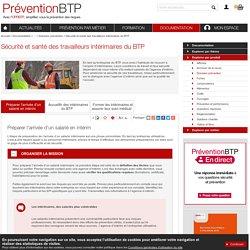 Sécurité et santé des travailleurs intérimaires du BTP