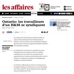 Ontario: les travailleurs d'un H&M se syndiquent