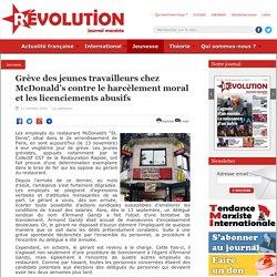 Grève des jeunes travailleurs chez McDonald's contre le harcèlement moral et les licenciements abusifs