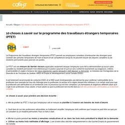 10 choses à savoir sur le programme des travailleurs étrangers temporaires (PTET) - CQRHT