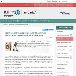 """Des travaux d'élèves de l'académie au Musée d'Orsay pour l'exposition """"Le modèle noir"""""""