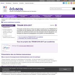 Travaux académiques mutualisés - TRAAM 2016-2017