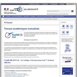 Travaux académiques mutualisés