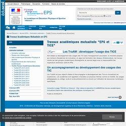 """Travaux académiques mutualisés """"EPS et TICE"""" — EPS"""
