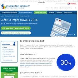 Crédit d'impôt travaux 2016 : démarches et avantages