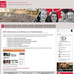 Travaux d'élèves en EMI (Education aux Médias et à l'Information) - Collège Saint Jean (Tarn)