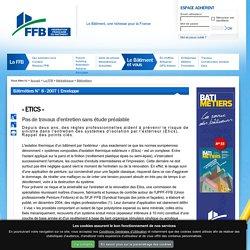 « ETICS » : Pas de travaux d'entretien sans étude préalable : FFB