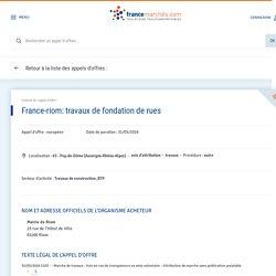 france-riom: travaux de fondation de rues - 13/joue/1841932016