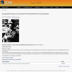 Les grands travaux du mouvement Freinet pendant le Front populaire