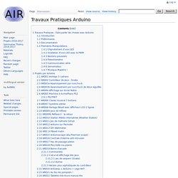 Travaux Pratiques Arduino - Air
