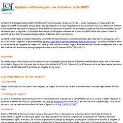 La DBO5- Travaux pratiques IUT HSE Bordeaux 1