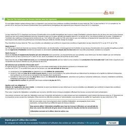 Taux de TVA réduit pour les travaux réalisés dans les logements