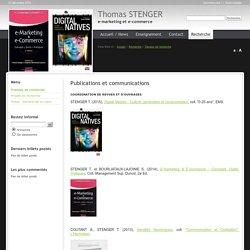 travaux recherche stenger publications congrès thomas stenger