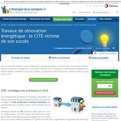 Travaux de rénovation énergétique : le CITE victime de son succès