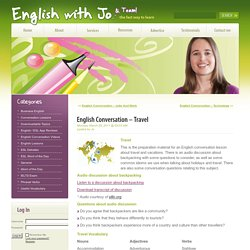 English Conversation – Travel