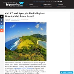 Call A Travel Agency In The Philippines Now And Visit Palaui Island!