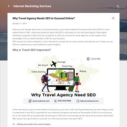 Why Travel Agency Needs SEO to Succeed Online?