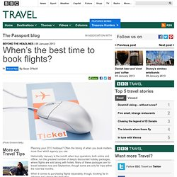 The best time to book flights : Travel Tips