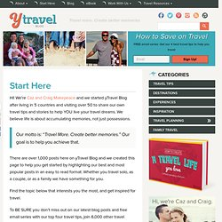 Start Here - y Travel Blog
