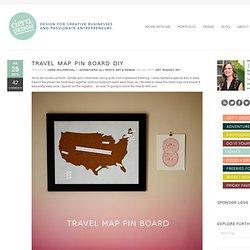 Travel Map Pin Board DIY