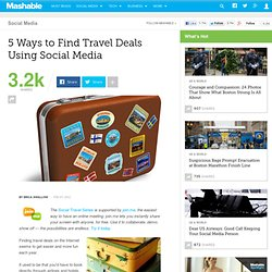 5 Ways to Find Travel Deals Using Social Media