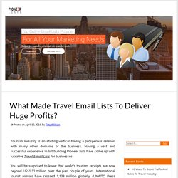 What Made Travel Email Lists To Deliver Huge Profits? – Pioneer Lists's Blogs