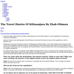 The Travel Diaries Of Kilimanjaro By Ehab Othman