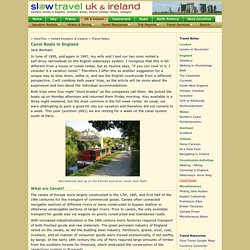 Slow Travel England - Canal Boats in England, how to plan your trip