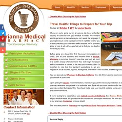 Travel Health: Things to Prepare for Your Trip