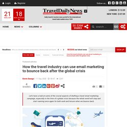 How the travel industry can use email marketing to bounce back after the global crisis