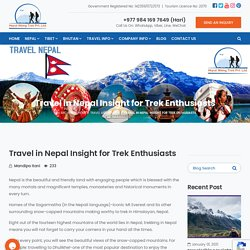 Travel in Nepal Insight for Trek Enthusiasts