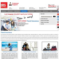 Buy Online Travel Insurance Policy at HDFC ERGO
