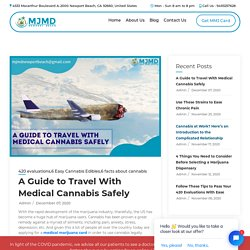 Here's How You May Travel With Medical Cannabis Safely