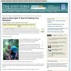 Travel Packing Tips for Women - Backpacking Light