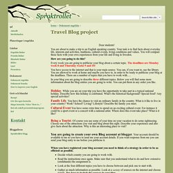 Travel Blog project - Spraktrollet