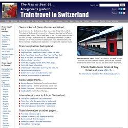 Swiss Travel Passes explained