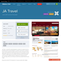 JA Travel - Best Joomla Travel Template