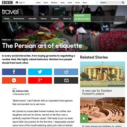 Travel - The Persian art of etiquette