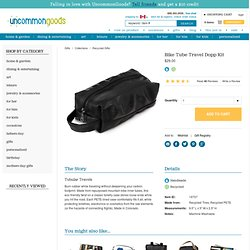 BIKE TUBE TRAVEL DOPP KIT | Toiletry Case, Black Rubber Bag