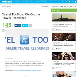 Travel Toolbox: 75+ Online Travel Resources